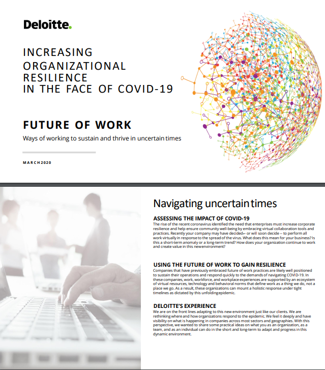 Future of Work: Ways of working in uncertain times