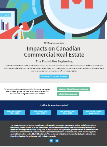 Impacts on Canadian Commercial Real Estate: The End of the Beginning